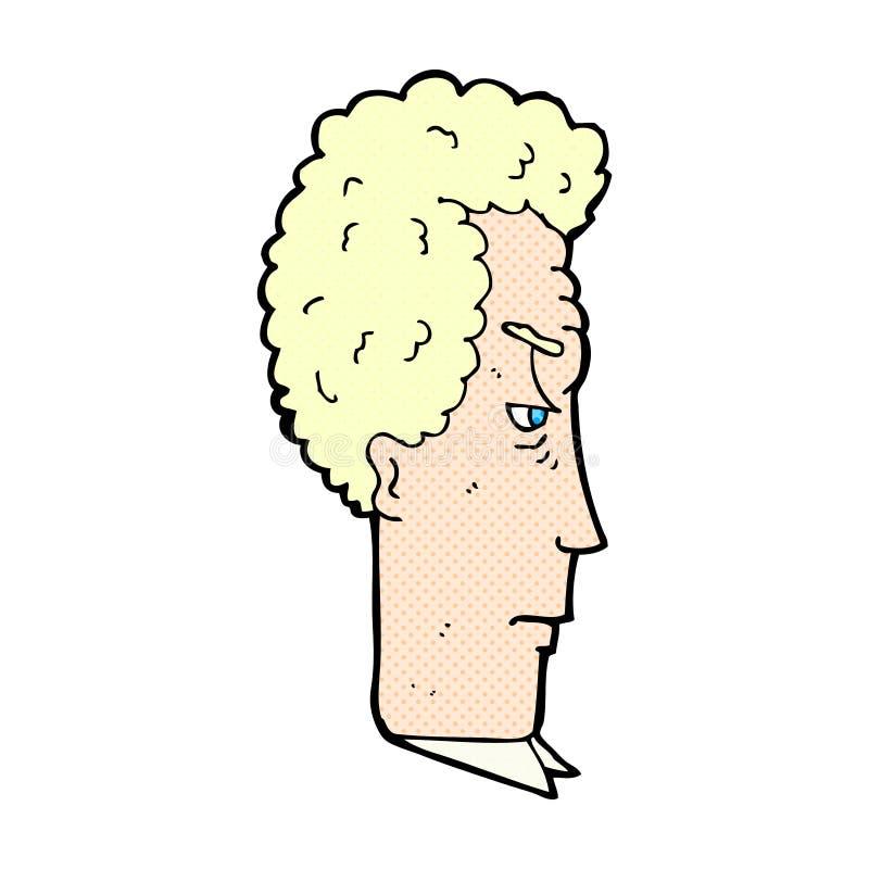 komiczna kreskówka dokuczający mężczyzna royalty ilustracja