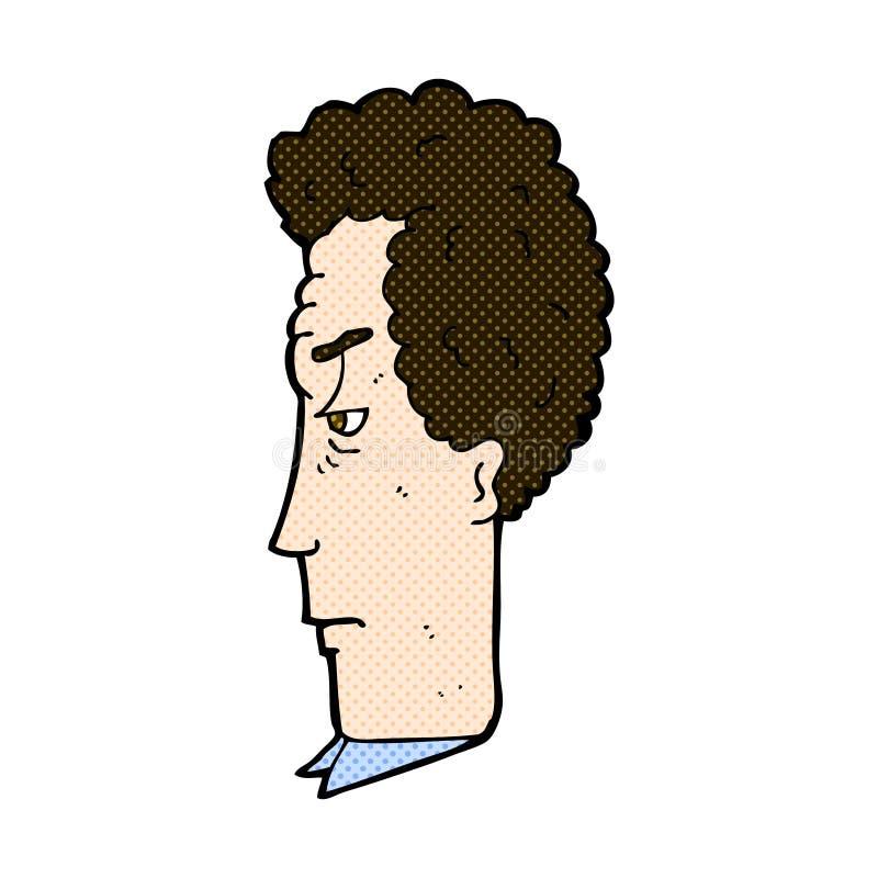 komiczna kreskówka dokuczający mężczyzna ilustracja wektor