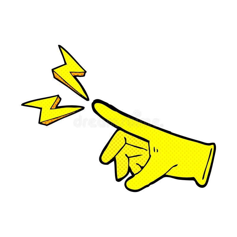 komiczna kreskówki gumy rękawiczka ilustracji