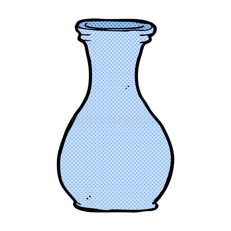 komiczna kreskówki waza ilustracja wektor