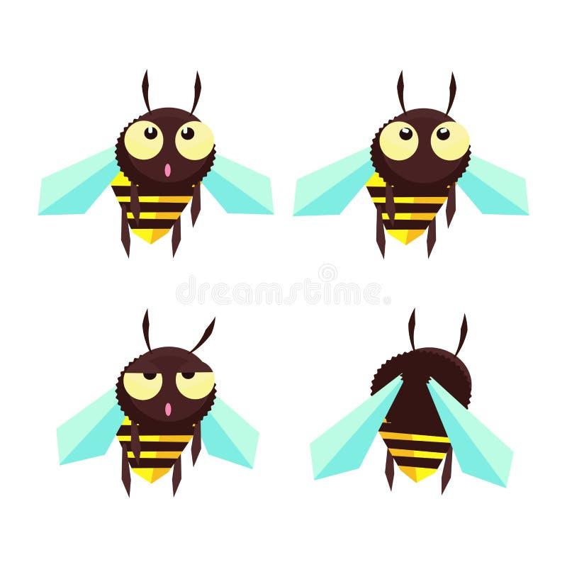 Komiczna mała pszczoła ilustracji