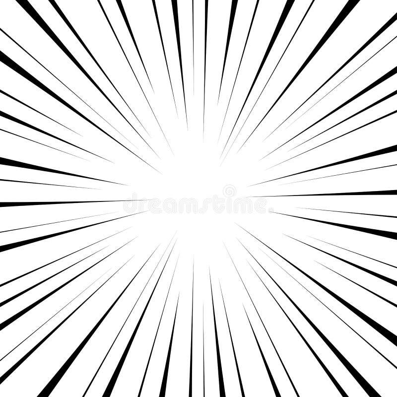 Komiczna promieniowa prędkość royalty ilustracja