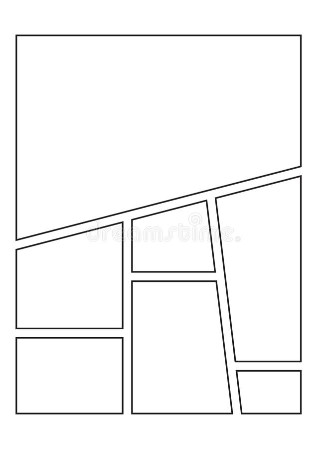 Komiczna sketchbook strona royalty ilustracja