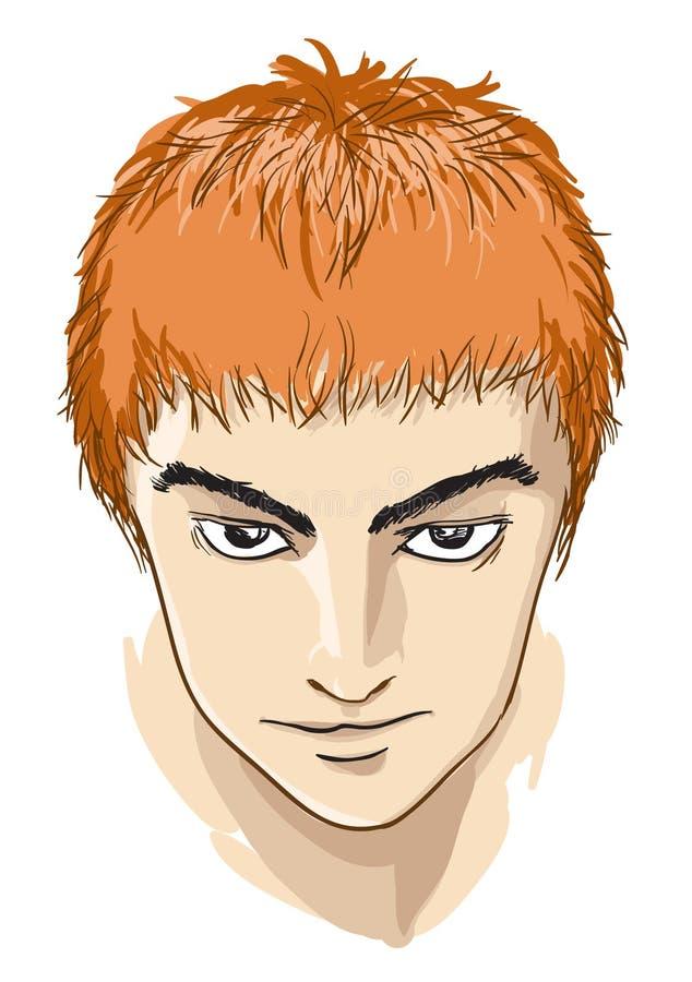Download Komiczna twarz ilustracja wektor. Obraz złożonej z zakończenie - 20649933