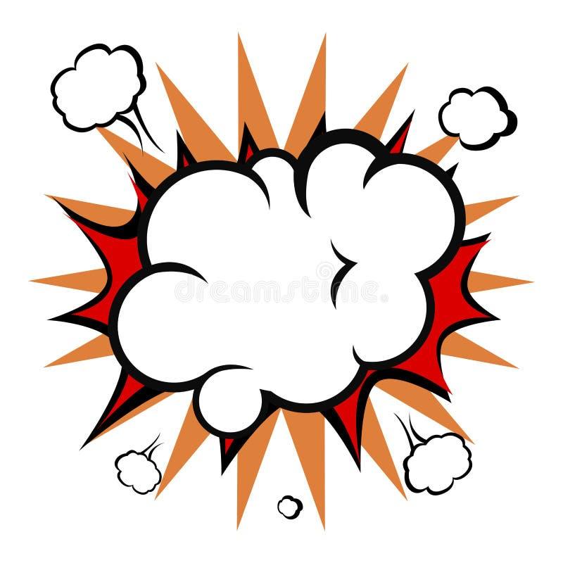 Komiczna wybuch chmura ilustracji