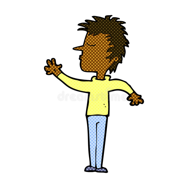 komicznej kreskówki lekceważący mężczyzna ilustracji