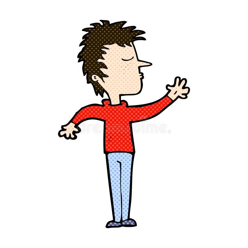komicznej kreskówki lekceważący mężczyzna ilustracja wektor