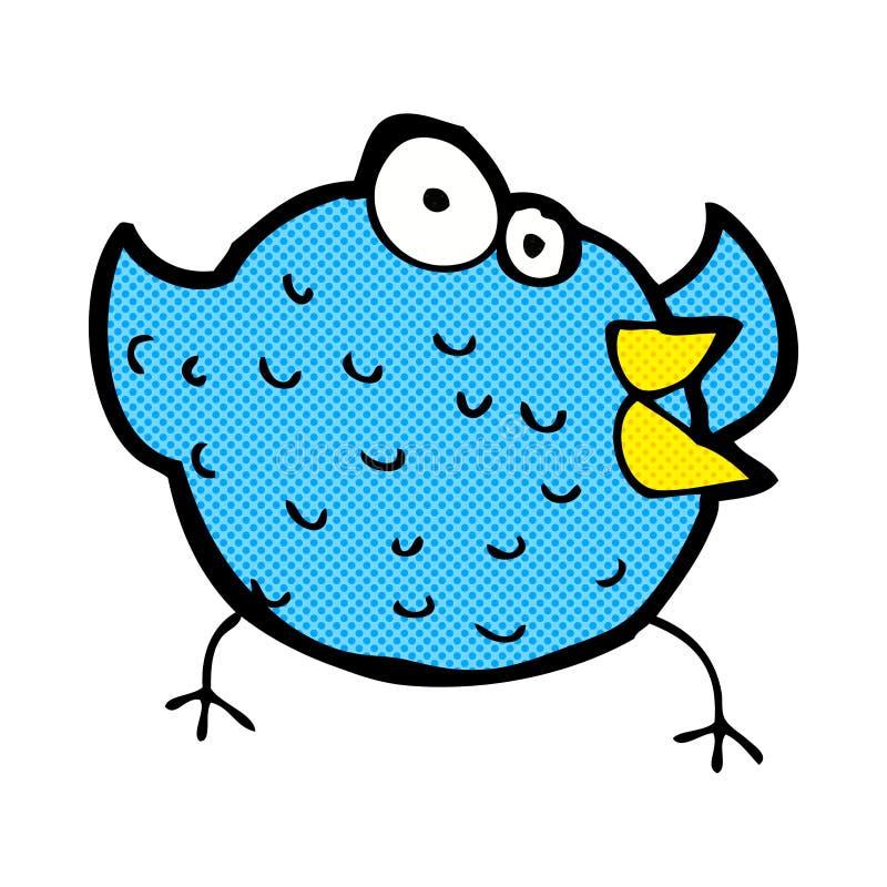 komicznej kreskówki szczęśliwy ptak royalty ilustracja