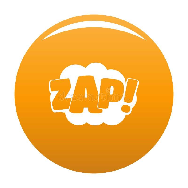 Komiczny huk zap ikona wektoru pomarańcze ilustracji