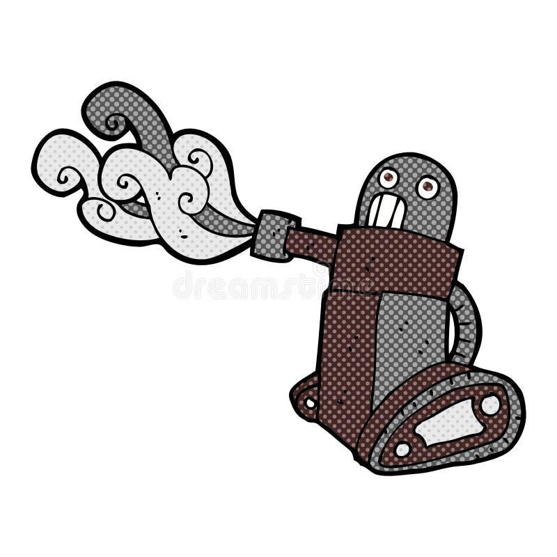 komiczny kreskówka zbiornika robot ilustracja wektor