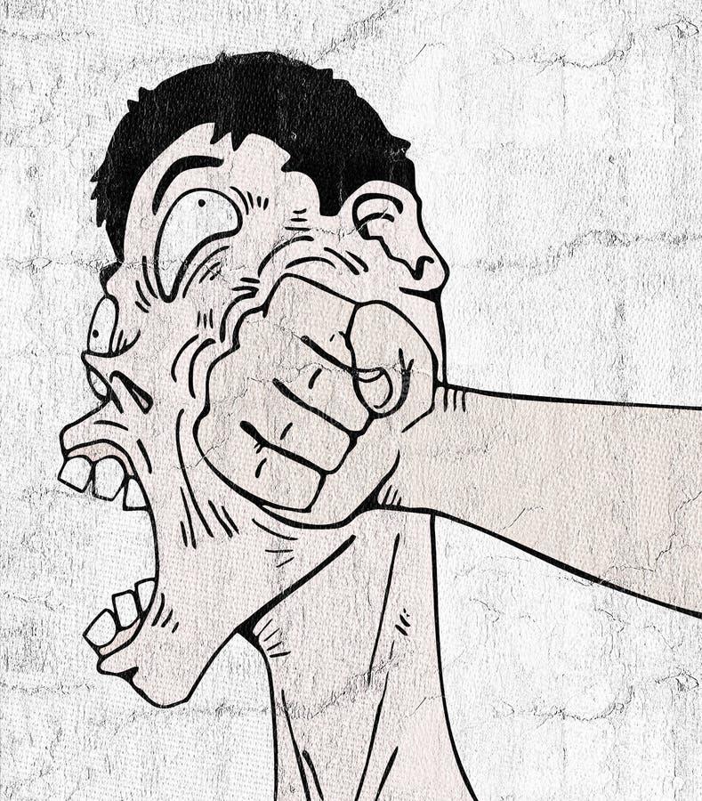 Komiczny poncz ilustracji