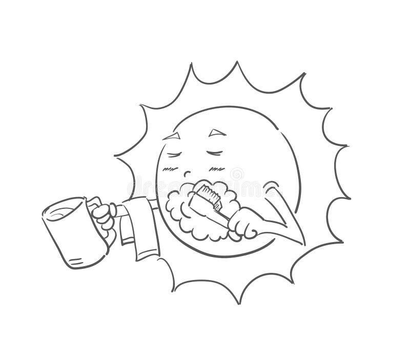 komiczny słońce royalty ilustracja