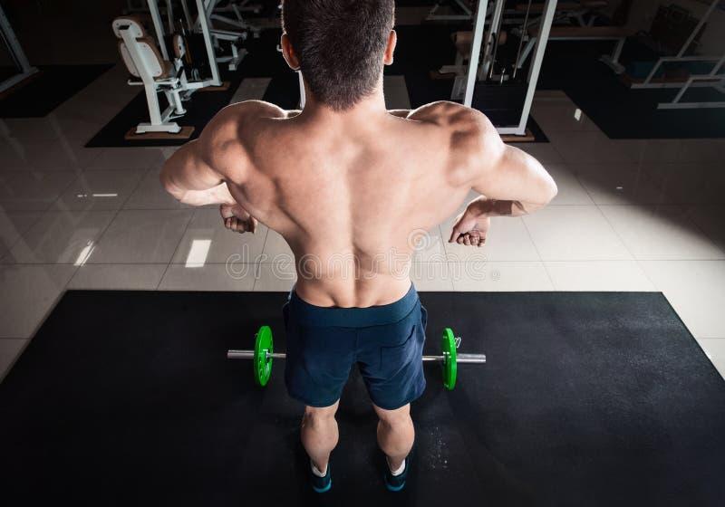 Komiczny straszny bodybuilder obraz royalty free