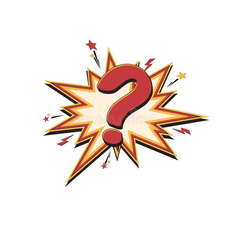 Download Komiczny znak zapytania ilustracja wektor. Ilustracja złożonej z balon - 106902064