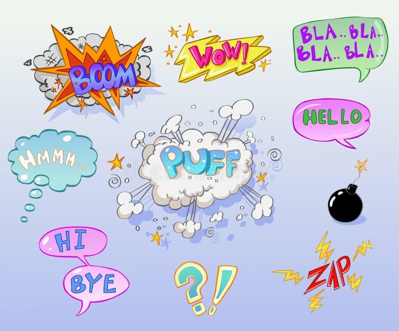 komiker royaltyfri illustrationer