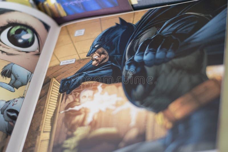 Komiker för Batman superheroDc royaltyfria foton