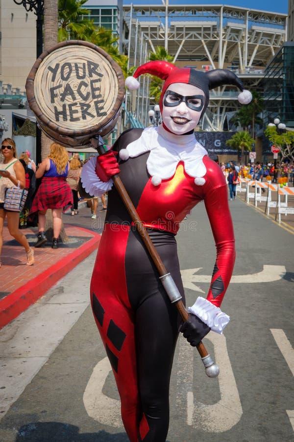Komiker-lura San Diego, Kalifornien arkivfoto
