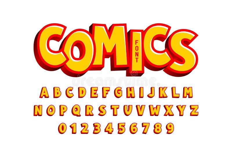 Komikerstilstilsort stock illustrationer