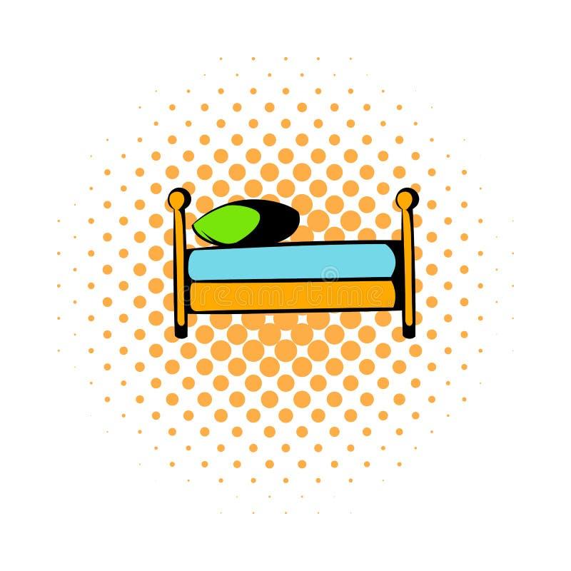 Komikersymbol för enkel säng royaltyfri illustrationer