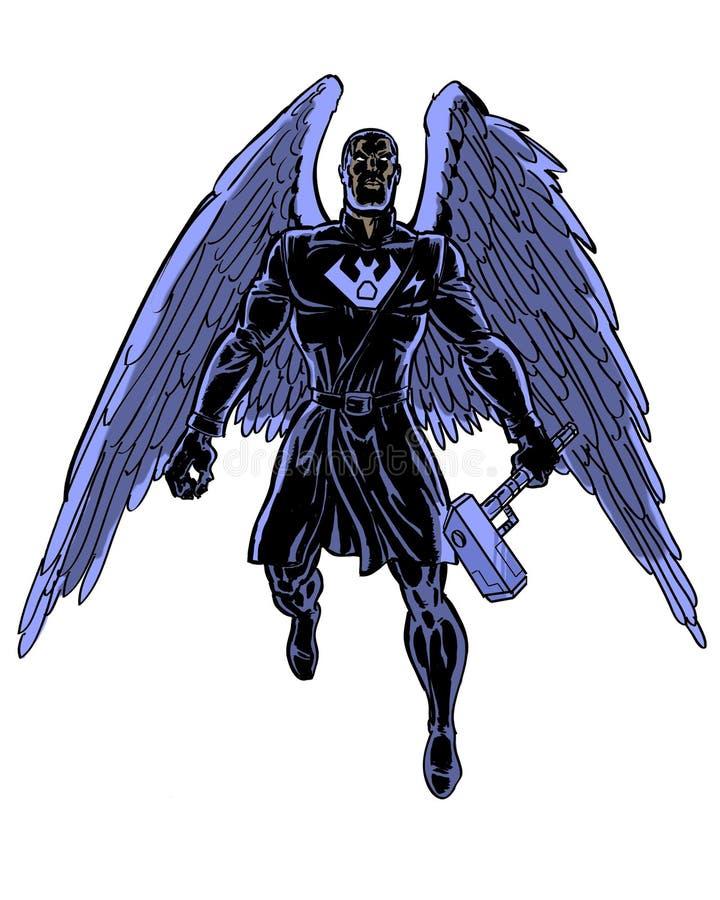 Komiks ilustrujący cienia kruka charakter ilustracji