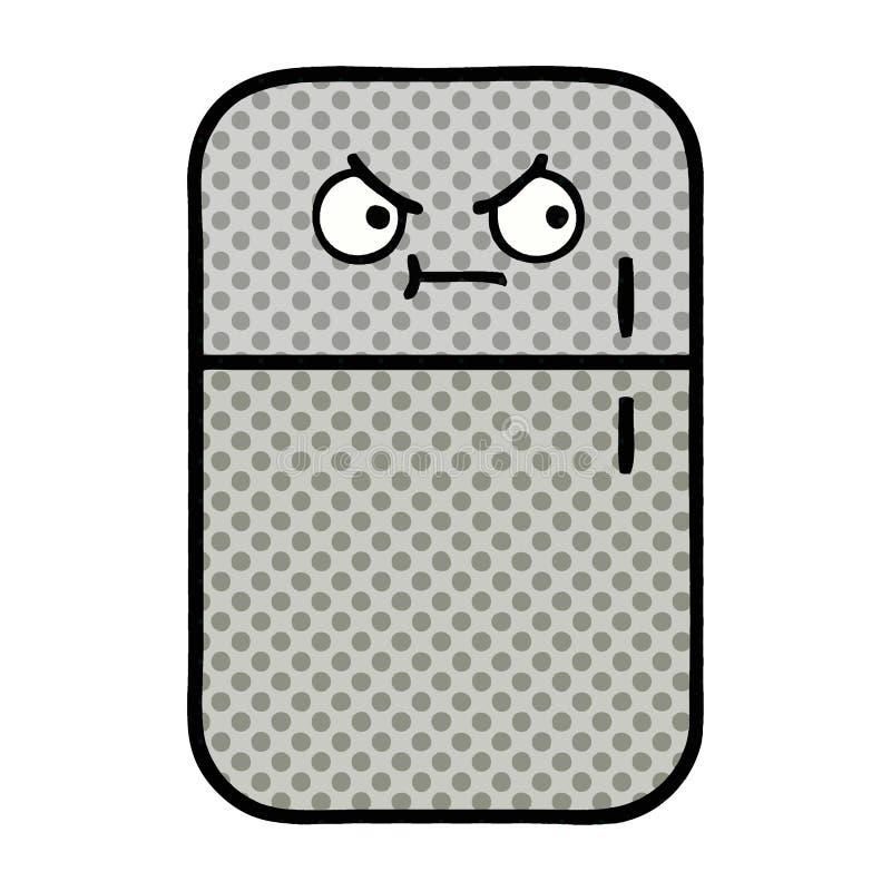 komiks kreskówki fridge stylowa chłodnia royalty ilustracja