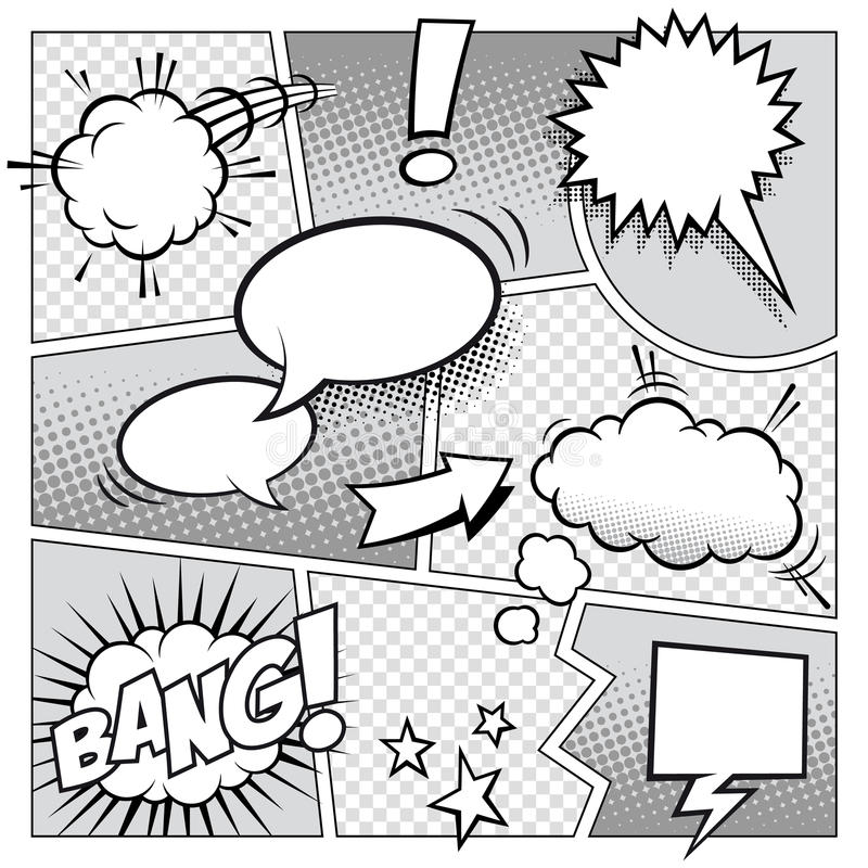 Komiks strona royalty ilustracja