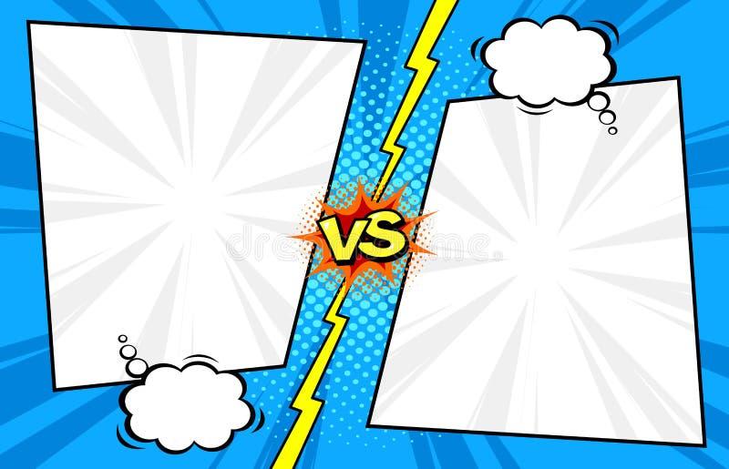 Komiks versus szablonu tło, halftone druku textur royalty ilustracja
