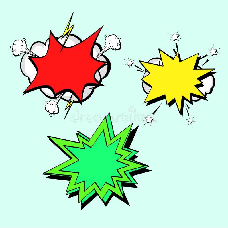Komiks Versus sztandaru szablonu t?a huk ilustracji