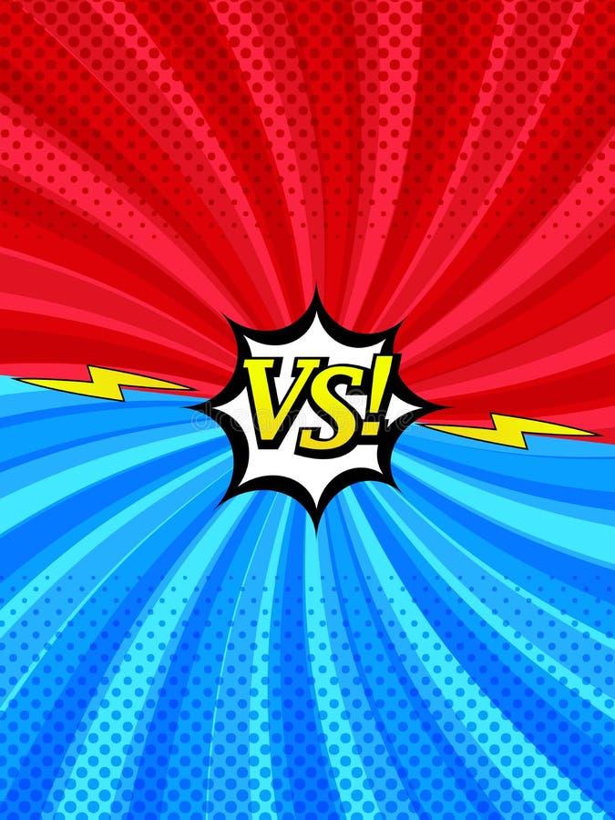 Komiks versus vertical stylu tło royalty ilustracja
