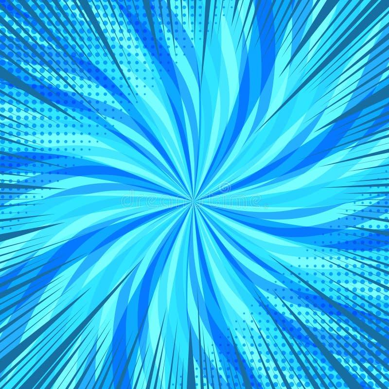 Komiksu błękitny jaskrawy tło ilustracji