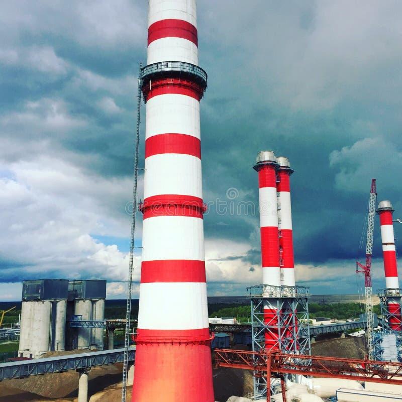 Komin elektrownia obrazy royalty free