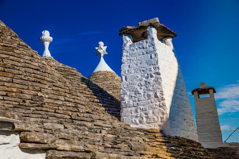 Komin Trulli dom - Alberobello, Apulia, Włochy fotografia royalty free