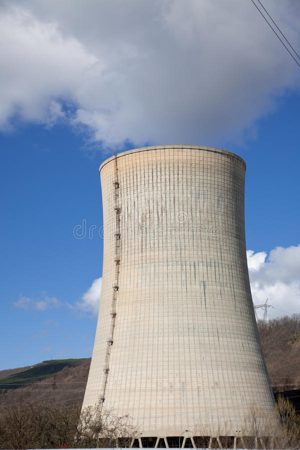 kominowa elektrownia fotografia stock