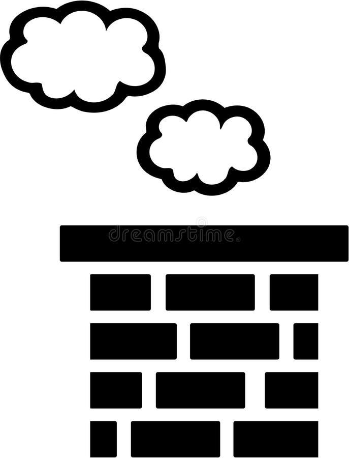 Kominowy dachu wektor ilustracja wektor
