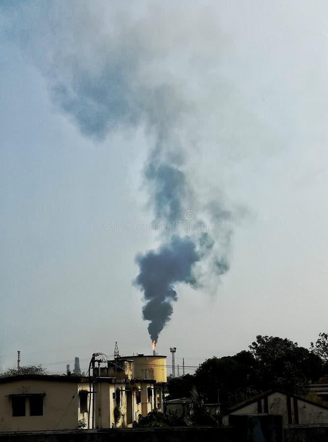Kominowy dymienie zdjęcie royalty free