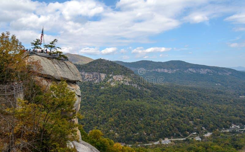 Kominu Rockowy widok Pólnocna Karolina fotografia royalty free
