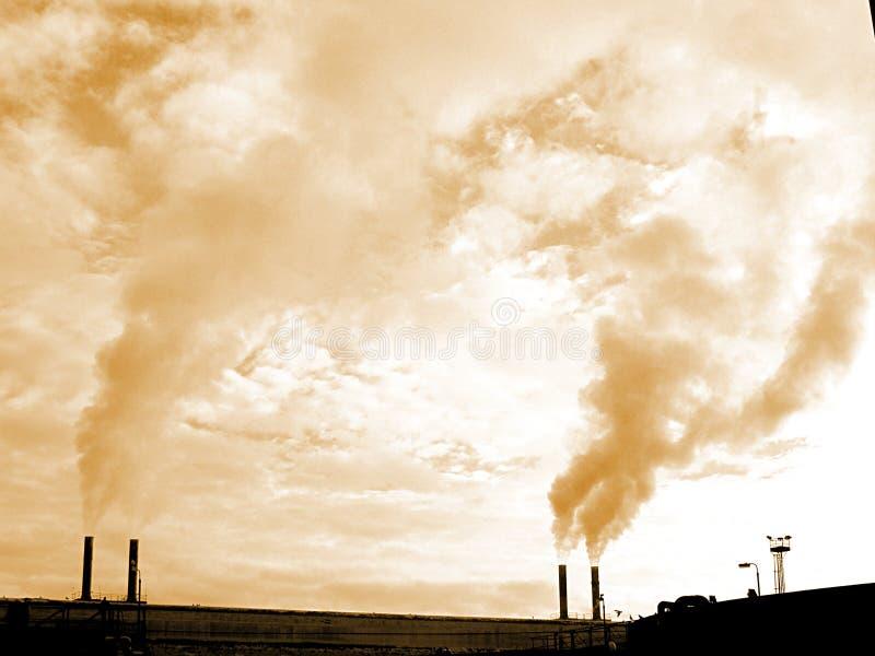 kominy przemysłowych obrazy stock