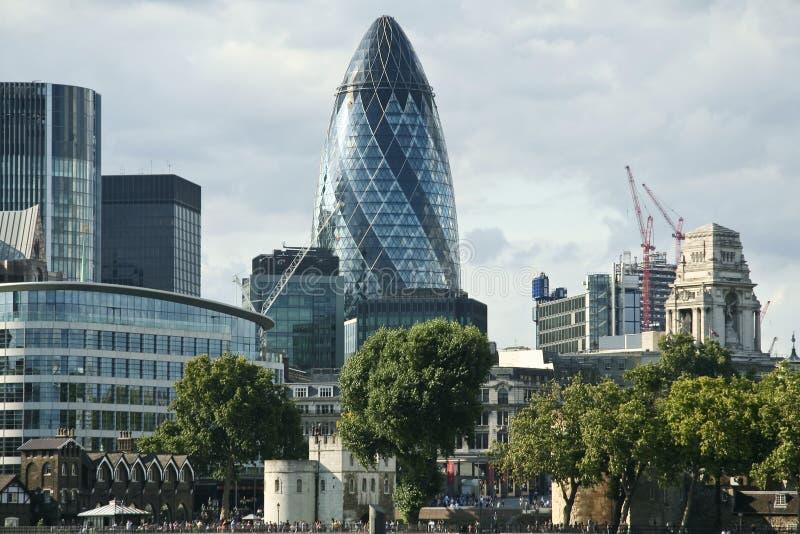 komisariat biznesowej miasta Londynu linia horyzontu obraz stock