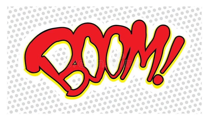 Komische Boomweinleseart stock abbildung