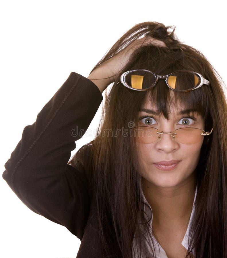 Komische Frau In Zwei Schauspielen. Stockfoto - Bild von