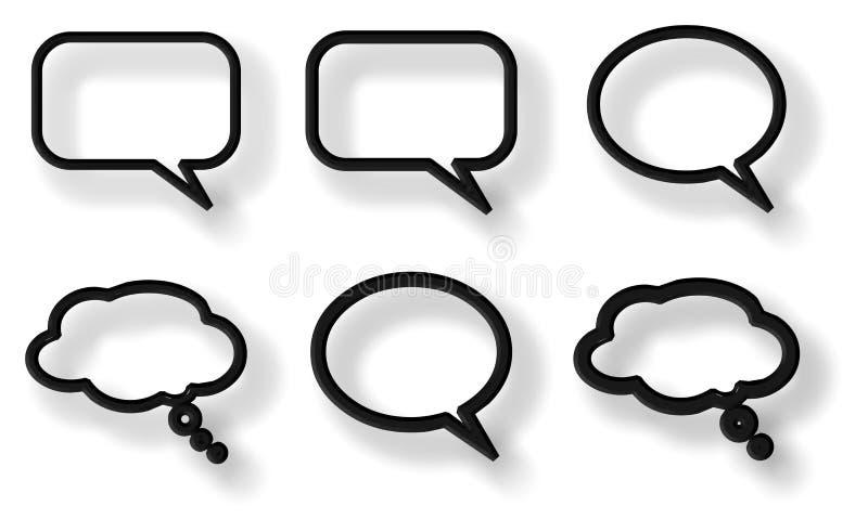 Komische Gesprächsluftblasen lizenzfreie abbildung