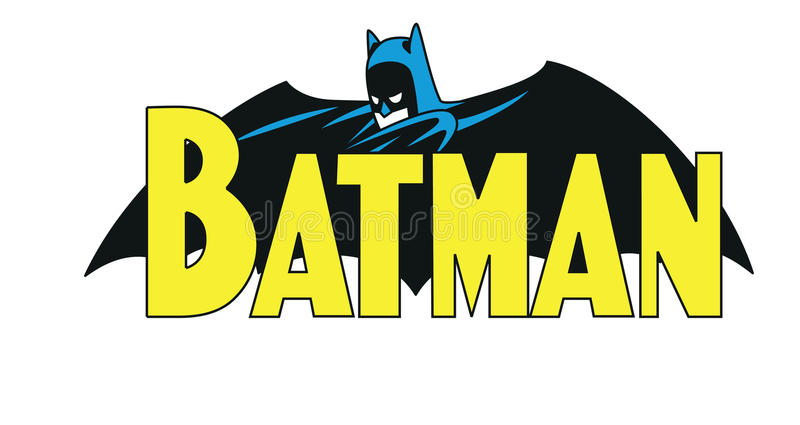 Komische Logoillustration Batmans vektor abbildung