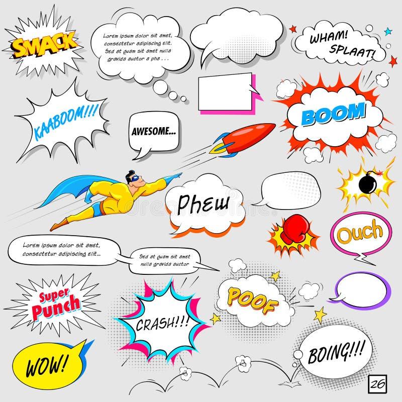Komische Sprache-Blase lizenzfreie abbildung