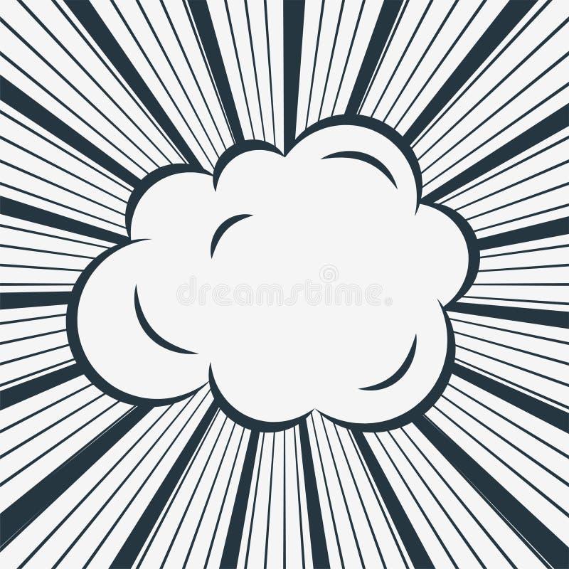 Komische Wolke auf Zoom zeichnet Hintergrund vektor abbildung