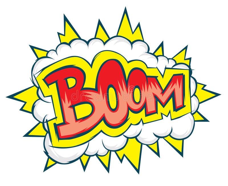 Komischer Explosions-Vektor stock abbildung