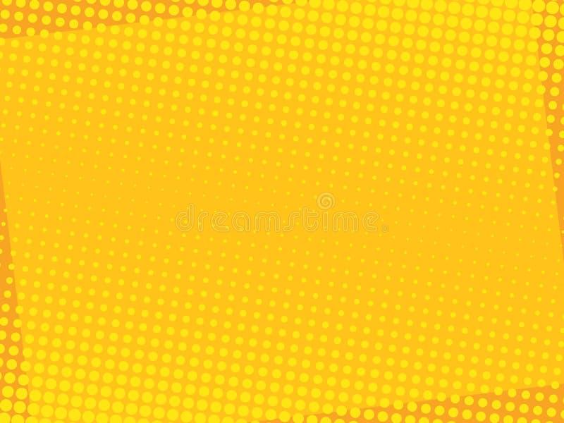 Komischer gelber Hintergrund 4 stock abbildung