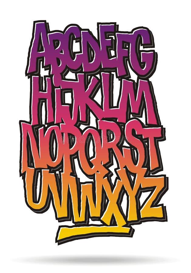 Komischer Graffitiguß der hellen Karikatur Elemente für das Scrapbooking lizenzfreie abbildung