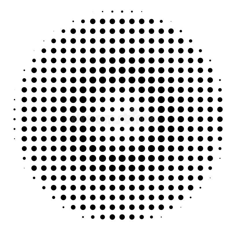Komischer Hintergrund Pop-Arten-Art Muster mit den Kreisen, die vom Mittel-starburst ausstrahlen, Sonne sprengte Strahlen, stock abbildung