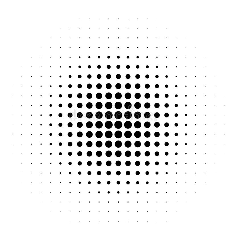 Komischer Hintergrund Pop-Arten-Art Muster mit den Kreisen, die vom Mittel-starburst ausstrahlen, Sonne sprengte Strahlen, vektor abbildung