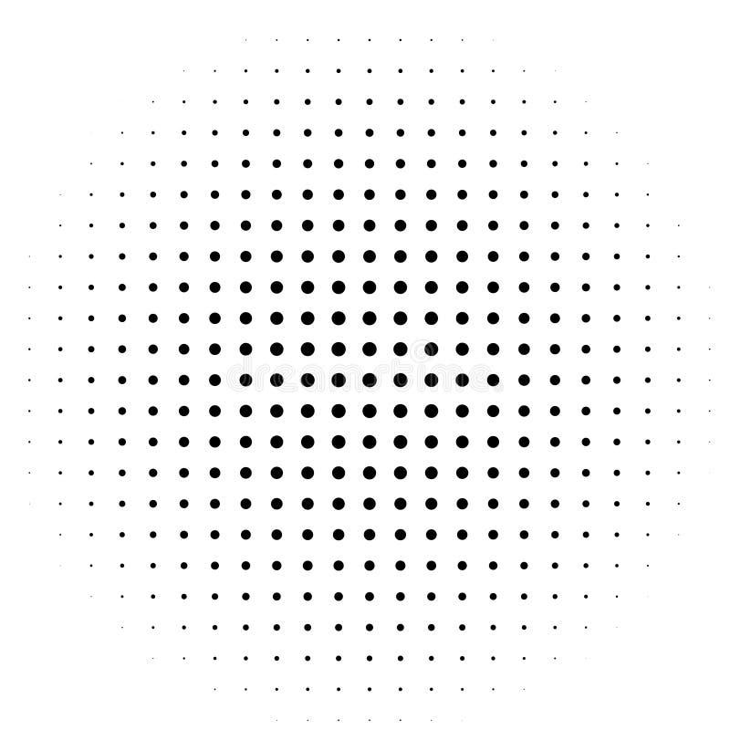Komischer Hintergrund Pop-Arten-Art Muster mit den Kreisen, die vom Mittel-starburst ausstrahlen, Sonne sprengte Strahlen, lizenzfreie abbildung